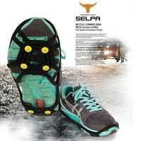 6 Studded Anti-slip Ice Grip Spike Winter Walking Sports Overshoes Shoes Cover