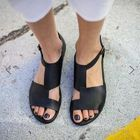 Discount pas cher US Size 5-12 Splicing Buckle Flat Sandals