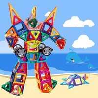 Kids Toys Enlighten Bricks Educational 3D DIY Magnetic Square Triangle Hexagonal Building Blocks