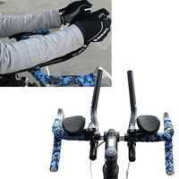 BicyclE Mountain Road Bike Separated TT Alloy PVC ResT-Handlebar Relaxation Vice Handlebar