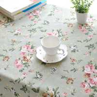 Rectangle Pastoral Style Thicken Cotton Linen Tablecloth Tableware Mat Desk Cover Home Decor