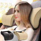 Meilleurs prix 2Pcs Leather Memory Foam Car Neck Rest Pillow Safety Cushion Head Support Covers
