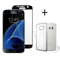 Bakeey™ 3D Curved Edge Tempered Glass Film With Transparent TPU Case for Samsung Galaxy S7