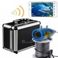 ENNIO Wireless 20M Under Water Fishing Waterproof HD 1000TVL Camera 2.4G WiFi Video Recorder APP View