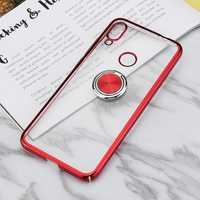 Bakeey Ring Holder Color Plating Hard PC Protective Case For Xiaomi Redmi Note 7 / Redmi Note 7 Pro