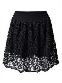 Sexy Crochet High Waist A-Line Women Mini Skirt