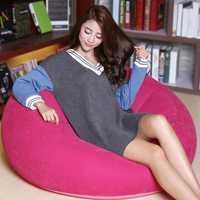 Thicken Air Portable Creative Fast Inflatable Sofa Cushion Lazy Chair Sleep Bed Garden Balcony Stool
