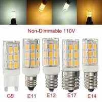E11/E12/E14/E17/G9 2.7W 27 SMD 5730/5630 Ceramic Holder LED Corn Light Non-Dimmable Bulb 110V
