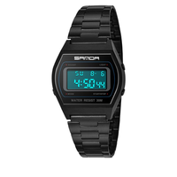 SANDA 406 Men Stainless Steel Calendar Sport Digital Watch
