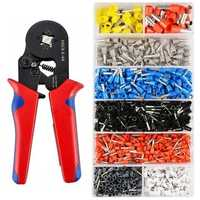 1200pcs 800pcs Connector Wire Terminal Kit with Crimper Pliers Wire Stripper Tool