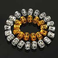 100Pcs 8mm Dreadlock Braiding Beads Braid Cuff Tubes Hair Clips Mixed Gold Silver Dreadlocks
