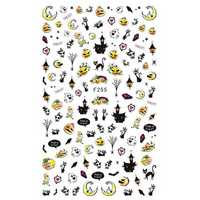 Dancingnail Halloween Nail Art Sticker Bat Vampire Ghost Pumpkin Black Cat Skull Pattern Decoration