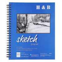 H&B 9x12 HB-SPSW003 Pictorial Bi-Coil Sketch Painting Paper Or Professional Art