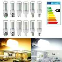 Dimmable E14/E27/G9/GU10/B22/E12 SMD4014 5W LED Corn Bulb Light Home Lamp AC220V