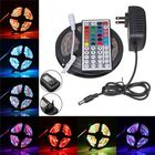 Promotion 5M SMD3528 Non-waterproof RGB 300 LED Strip Light+IR Controller+44Keys Remote Control+EU US Plug