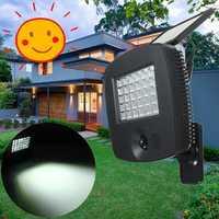 30LED Solar PIR Motion Sensor Light Outdoor Garden Path Security Lighting Lamp