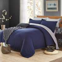 Honana WX-8368 4Pcs Solid Color Bedding Sets Duvet Cover Sets Bed Linen Include Bed Sheet Pillowcase