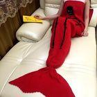 Recommandé 175x90cm Skull Knitted Mermaid Tail Blanket Handmade Crochet Throw Super Soft Sofa Bed Mat