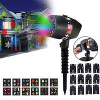 Christmas Black ABS Projector Lamp Light Christmas Light With 12 Slides Video Landscape