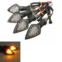 4pcs Universal Motorcycle Amber 10LEDs Turn Signal Blinker light Indicator