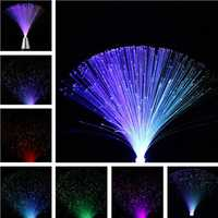 Multicolor Romantic LED Fiber Optic Flashing Night Light for Home Decor