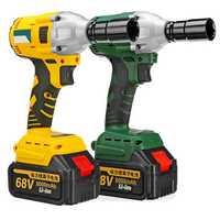 68V 8000mAh 460N.m Electric Cordless Impact Wrench Brushless Driver Tool w/ 2pcs Li-ion Batteries