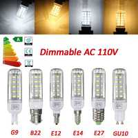 E27/E14/E12/B22/G9/GU10 Dimmable 4W AC110V LED Bulb White/Warm White 36 SMD 5730 Corn Light Lamp