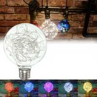 E27 Star Starry Sky Edison 50LED Firework Filament Retro Xmas Decor Light 5Color Light Bulb AC85-265