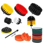 Les plus populaires 22Pcs/Set Drill Scrubber Cleaning Brush Kit for Bathroom Surfaces Tub Tile and Grout