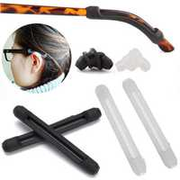 Comfortable Soft Silicone Anti Slip Ear-hooks for Glasses Eyeglasses Sunglasses