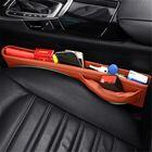 Meilleurs prix Leather Car Seat Crevice Storage Bag Seat Gap Filler Pocket Organizer Caddy Catcher Box