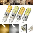 Meilleurs prix Dimmable G4 G9 5W Silicone Warm White Pure White LED COB Light Bulb Chandelier Lamp AC220V