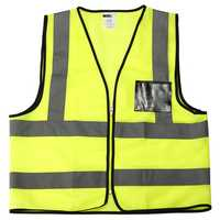 Hi-Vis Viz Safety Vest Reflective Jacket Security Waistcoat Zipper Front Large Size