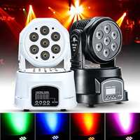 70W RGBW DMX512 LED Moving Head Stage Lighting DJ Club Disco Xmas Party Lamp