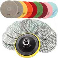 10pcs 4 Inch 50 to 6000 Grit Diamond Polishing Pads for Granite Marble Polish