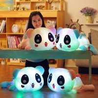 LED Light up Plush Doll Luminous Stuffed Panda Loy Glow Cushions Pillows Birthday Gift 35cm