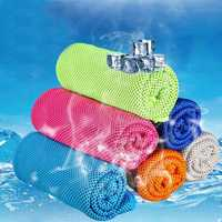 31x100cm Microfiber Squishy Absorbent Summer Cold Towel Sports Hiking Travel Cooling Washcloth