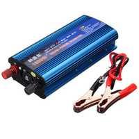 Peak Power Inverter DC 12/24V to AC 220V 1600W Modified Sine Wave Converter USB