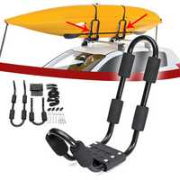 Aluminum Roof Rack Mounting Bracket Installing Support Accessories With 2 Straps For Surfboard Kayak