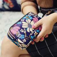 Waterproof Nylon Patchwork Three Zipper 5.5 inches Phone Bag