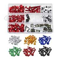 177pcs Motorcycle Fairing Bolt Kit Nuts Screws Clips For Honda/Yamaha/Kawasaki/Suzuki