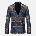 Recommandé Mens Ethnic Style Printing Suit Jacket Blazers