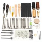 Meilleurs prix 59Pcs Leather Craft Hand Tools Kit For Hand Stitching/Sewing Stamping Set
