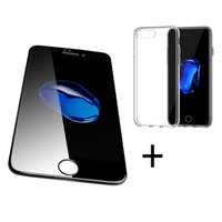 Bakeey™ 4D Curved Edge Tempered Glass Film With Transparent TPU Case for iPhone 6Plus/6sPlus