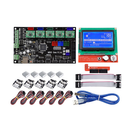 Offres Flash MKS GEN V1.4 Mainboard Motherboard+ 12864 LCD Display Screen + 5x A4988 Driver + 6x Limit Switch Kit For 3D Printer
