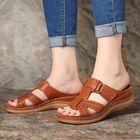 Meilleurs prix LOSTISY Women Comfy Hollow Out Hook Loop Wedges Sandals
