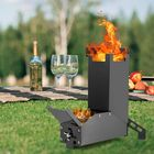 Prix de gros GL Black Titanium Rocket Portable Stainless Steel Folding Stove Hiking Outdoor Camping Barbecue Picnic Wood Stove