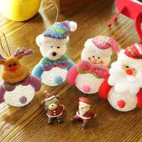 Christmas 2017 LED Lights Snowman Santa Claus Ornament Christmas Tree Party Decor Desktop Decoration