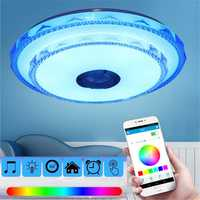 50cm 36W RGB LED Ceiling Light Bluetooth Music Speaker Lamp Remote APP Control