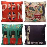 British Style European Traveling Throw Pillows Cases Home Sofa Car Decor Cushion Cover